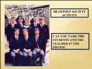Dead Poets Society Activity by Reggie (SOURCE: eslprintables.com)