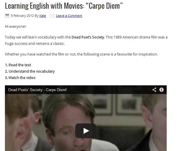 carpe diem means in english