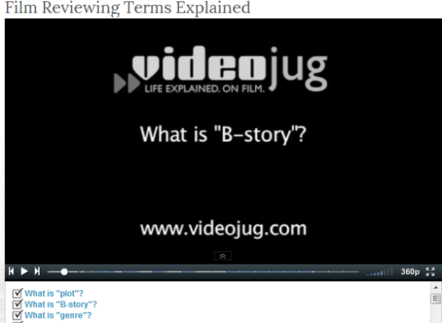 Film Reviewing Terms Explained- CLICK TO WATCH VIDEO WITH TRANSCRIPT