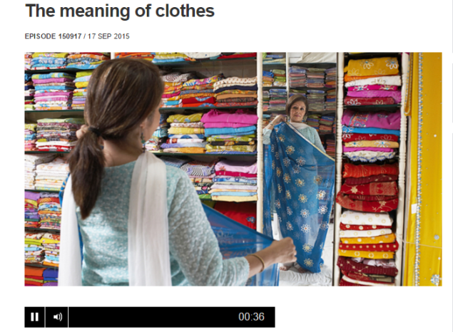 The meaning of clothes - VIDEO- QUESTIONS & TRANSCRIPT (SOURCE: live.bbc.co.uk)