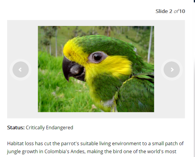 Endangered Species-view slide & do quiz (SOURCE: channelone.com)