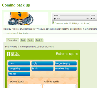 LISTEN TO THE TEXT & DO ONLINE ACTIVITIES (SOURCE: learnenglish.britishcouncil.org)