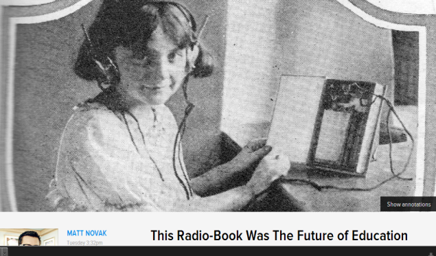 READ ARTICLE: This Radio-Book Was The Future of Education (SOURCE: paleofuture.gizmodo.com)