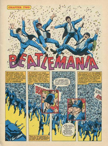 The Beatles in Comics (SOURCE: brainpickings.org)