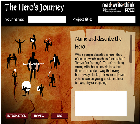 Student Interactive: Hero's Journey ONLINE ACTIVITY (SOURCE: readwritethink.org)
