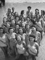 Contestants at the Atlantic City Beauty Contest  by Peter Stackpole