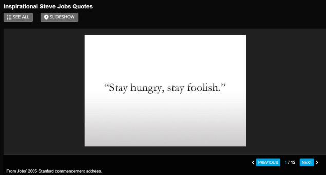 Inspirational Steve Jobs Quotes- CLICK TO VIEW