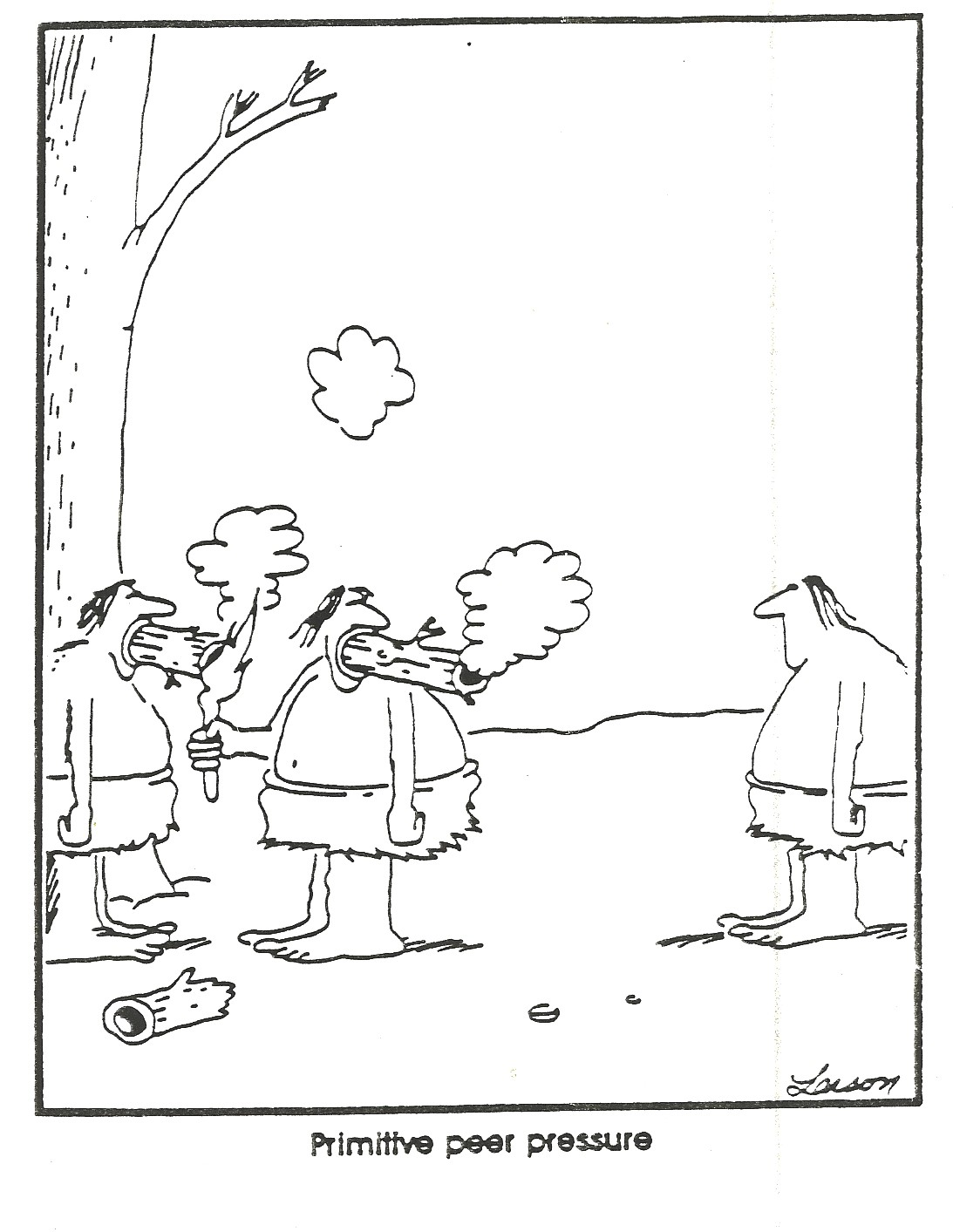 gary larson, far side, cavemen