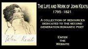 The life and work of John Keats