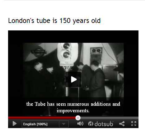 London's tube is 150 years old (SOURCE: watchinenglish.blogspot.com.es)