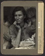 Destitute pea pickers in California. Mother of seven children. Age thirty-two. Nipomo, California  by Lange, Dorothea, photographer (SOURCE: LIBRARY OF CONGRESS)