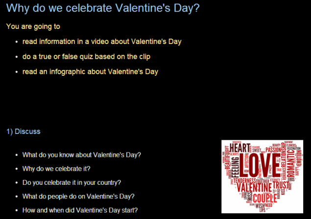 Why do we celebrate Valentine's Day? (SOURCE: efllecturer.blogspot.gr)