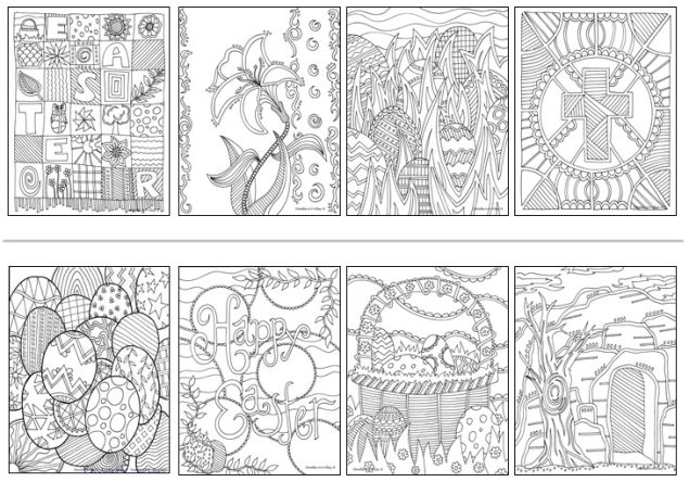 COLOURING PAGES (SOURCE: doodle-art-alley.com)