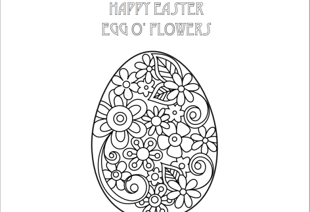 FREE COLOURING PAGE (SOURCE: needlenthread.com)