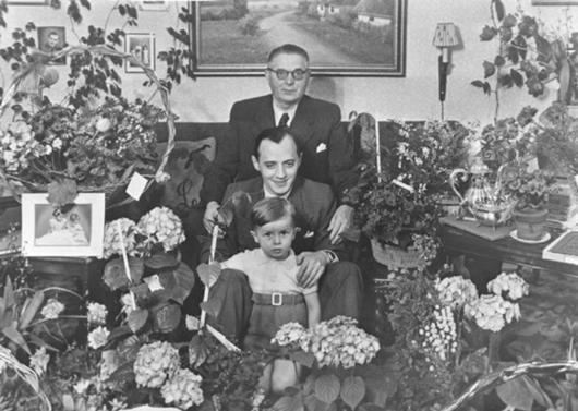 Ole's 60th birthday 1951 pictured three generations of the Christiansen family Ole (top), Godtfred (middle), and Kjeld (bottom)