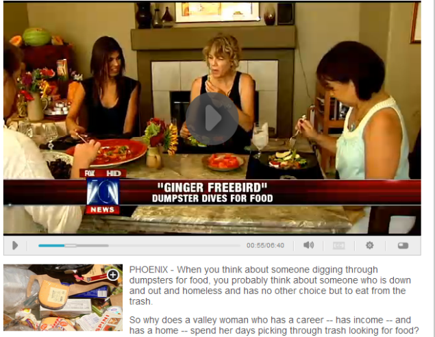 'Freeganism:' One grocer's trash another person's feast WATCH VIDEO WITH TRANSCRIPT (SOURCE: myfoxphoenix.com)