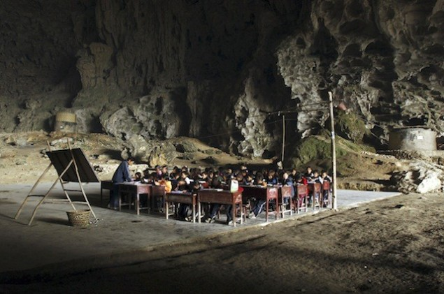 Class In A Cave (SOURCE: takepart.com)