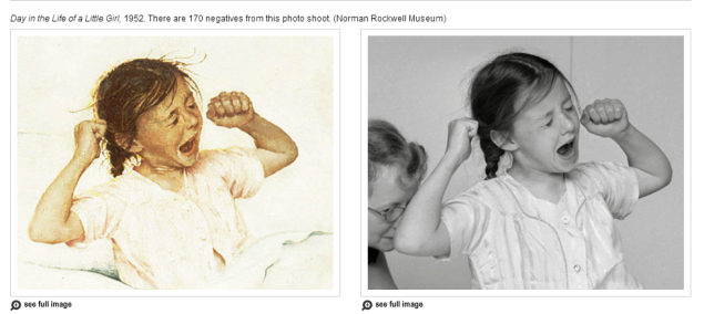 Norman Rockwell's Photographic Eye - VIEW MORE PHOTOS & PAINTINGS (SOURCE: npr.org)