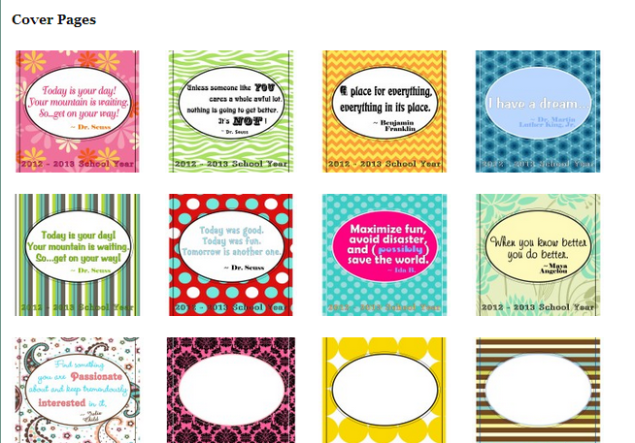 CLICK TO VIEW & DOWNLOAD COVER PAGES (SOURCE: thecurriculumcorner.com)