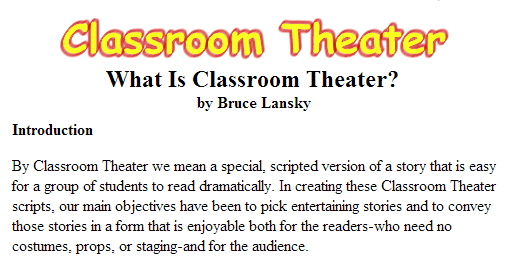 LESSON PLANS & SCRIPTS (SOURCE: fictionteachers.com)