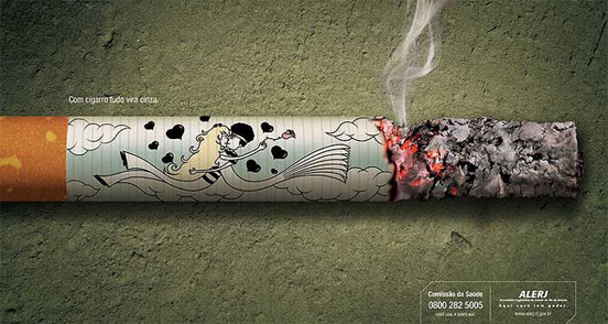Top 45 Creative Anti-Smoking Advertisements(SOURCE: thedesigninspiration.com)