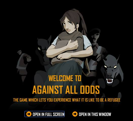 Against All Odds is about the global refugee experience from the time people are forced to leave their countries of origin to the beginning of their new life abroad. A series of short challenges illustrates the complexity and danger of the refugee experience. (SOURCE: gamesforchange.org)